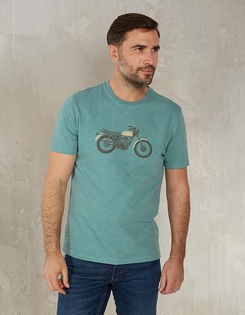 Motorbike Organic Cotton Graphic T-Shirt