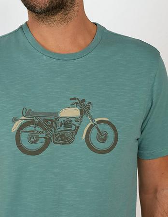 Motorbike Organic Cotton Graphic T Shirt