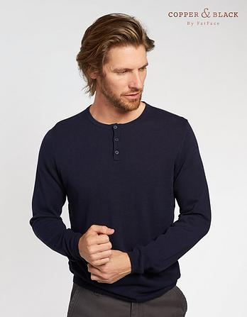 Long Sleeve Knitted Grandad Sweater