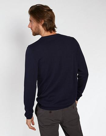 Long Sleeve Knitted Grandad Jumper