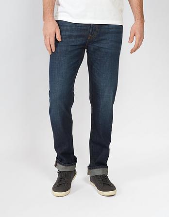 Mens Raw Rinse Straight Jeans Fat Face ZUX1jQ