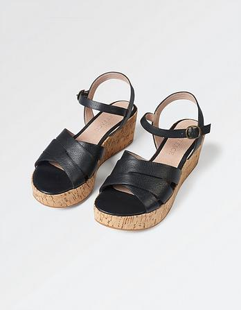 Exton Leather Wedge Sandals