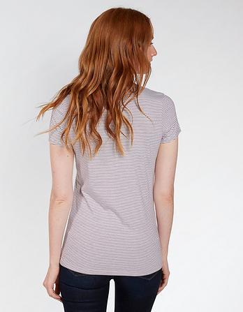 Hannah V Neck Stripe T-Shirt