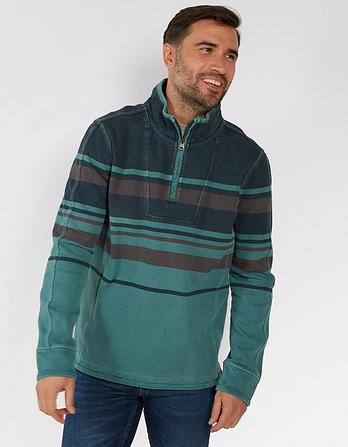 Airlie Overdyed Stripe Sweatshirt