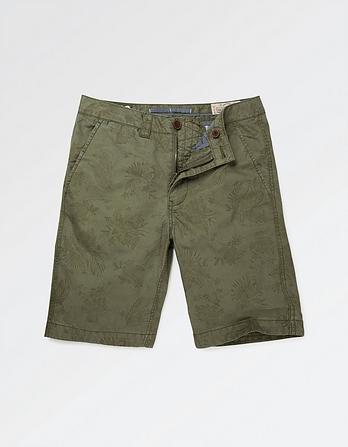 Leaf Print Shorts