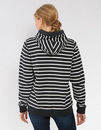 Organic Cotton Heritage Stripe Zip Thru Hoody