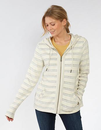 Hemsby Stripe Zip Thru Hoody