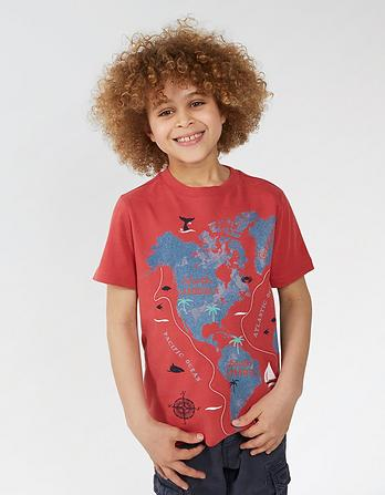 Map Print Graphic T-Shirt