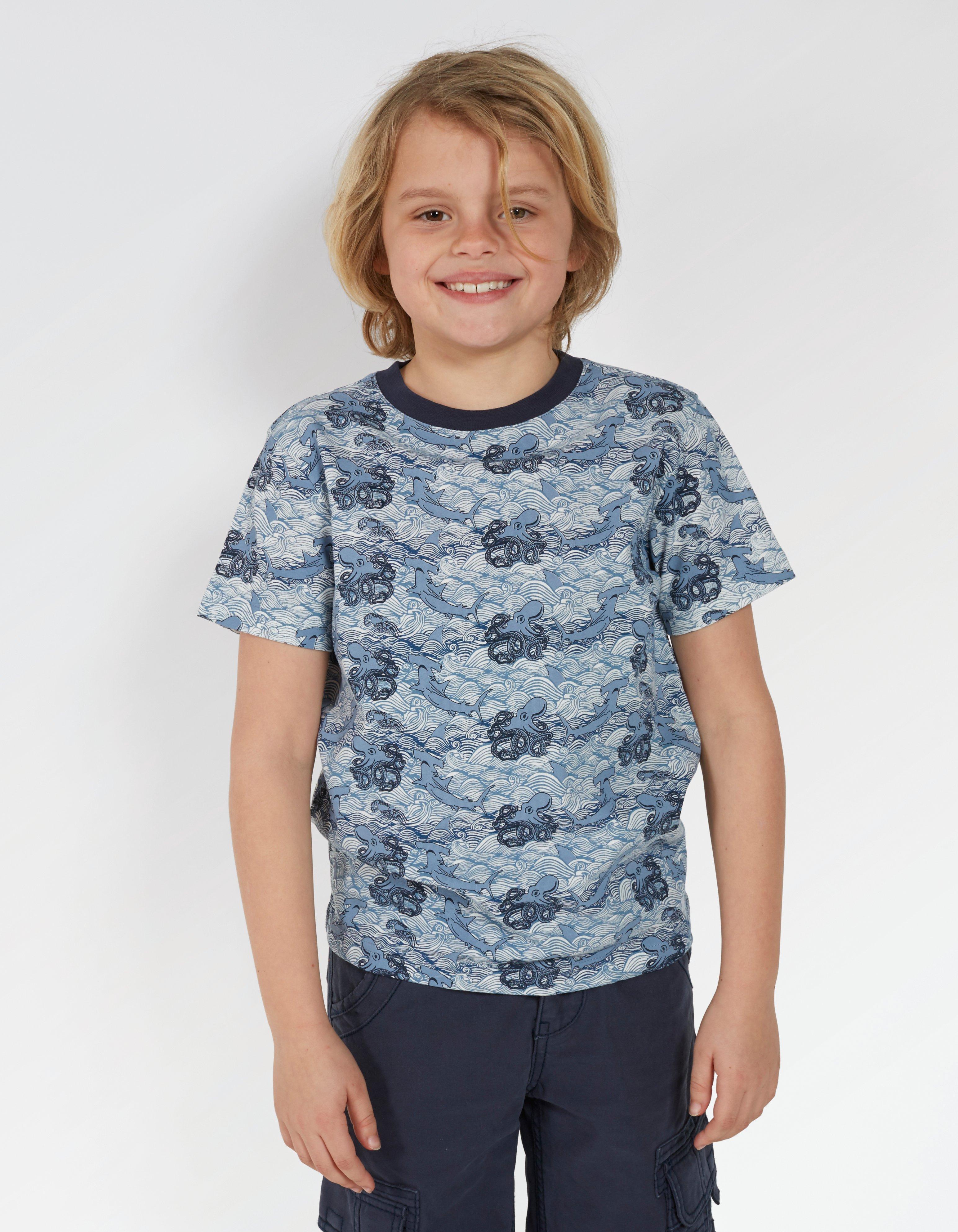 Stormy Seas Print T Shirt