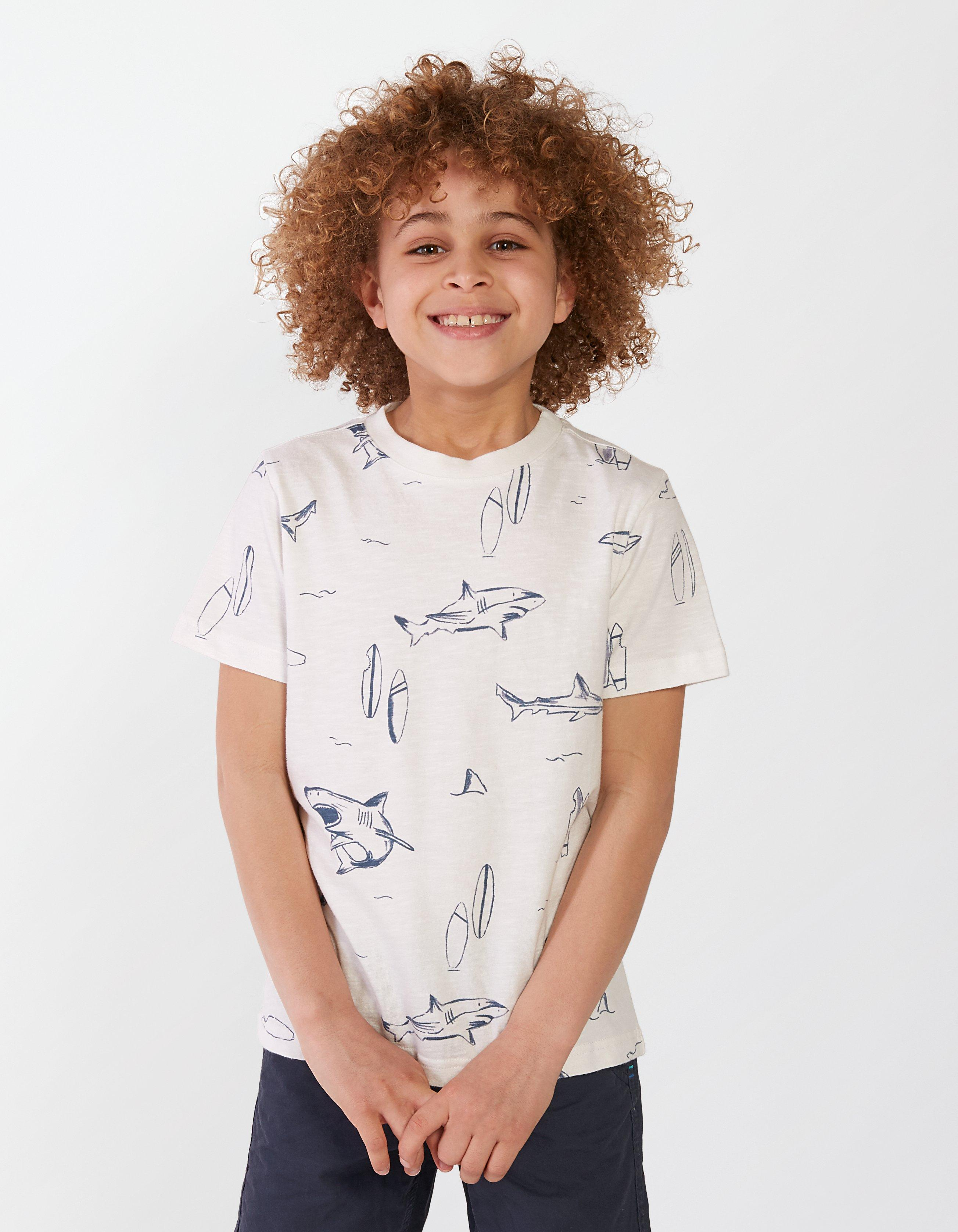Sharks And Boards Print T Shirt