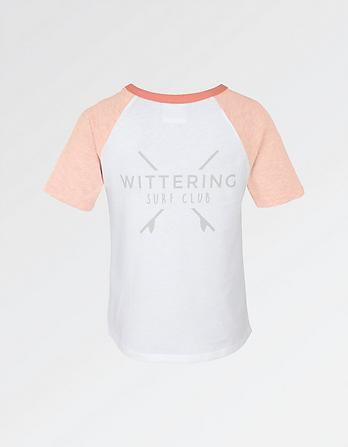 Wittering Surf Club Kids Baseball T-Shirt