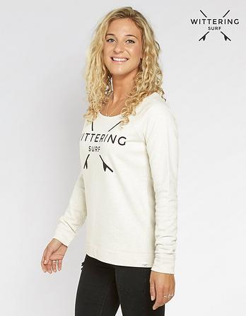 Wittering Surf Women's Snapper Logo Sweat