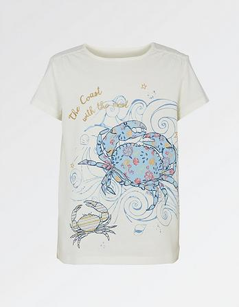 Pretty Crab Graphic T Shirt