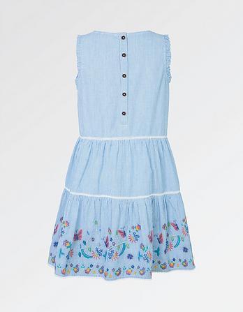 Bella Embroidered Stripe Dress