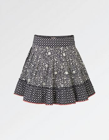 Ditsy Fish Tiered Skirt