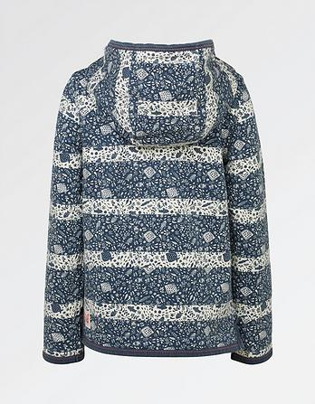 Croyde Fish Print Zip Thru Hoody