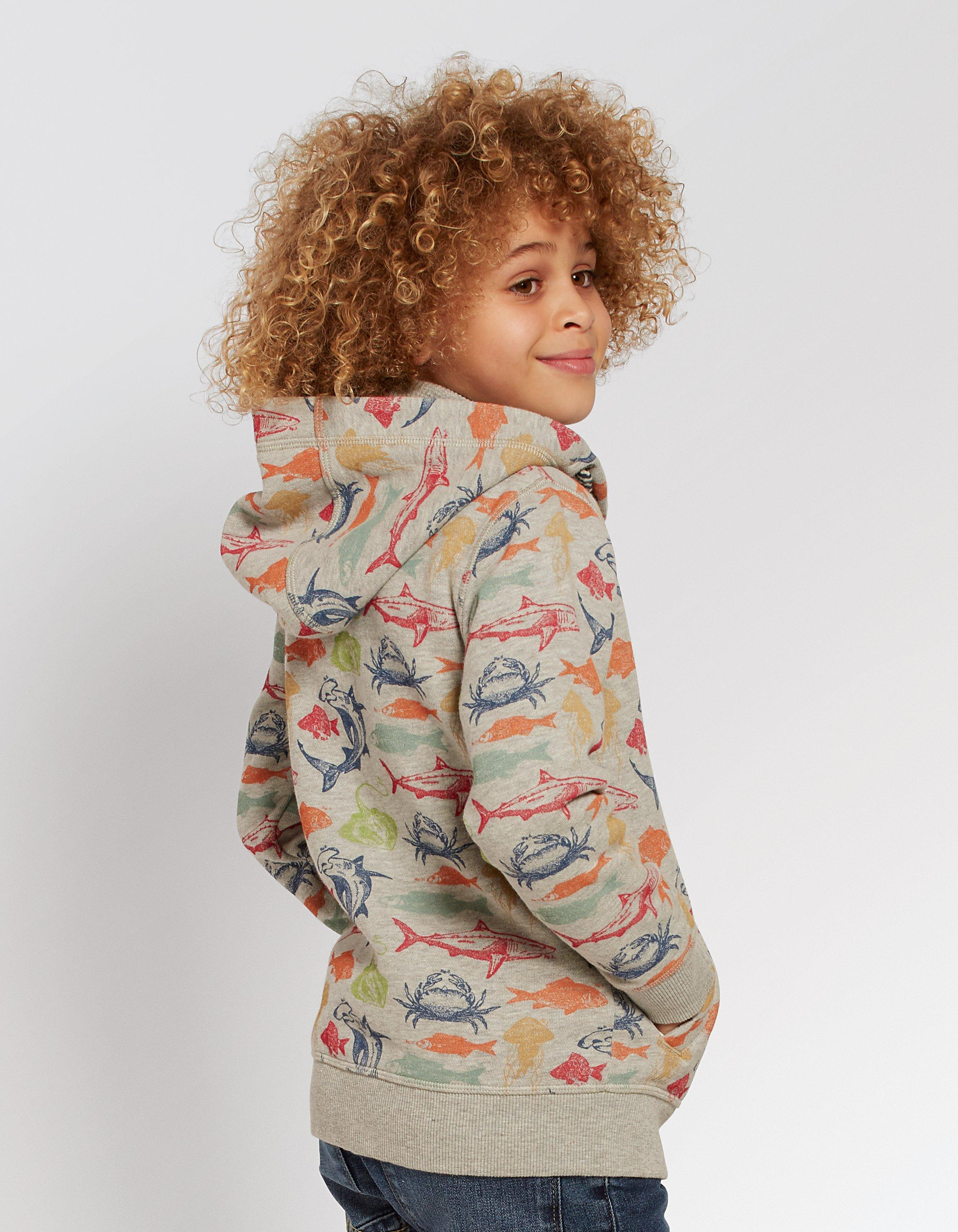 Deep Sea Print Zip Thru Hoody