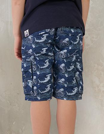 Tenby Stormy Seas Print Shorts