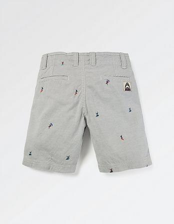 Ellis Surf Embroidery Stripe Shorts