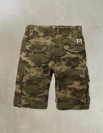 Tenby Camo Print Cargo Shorts