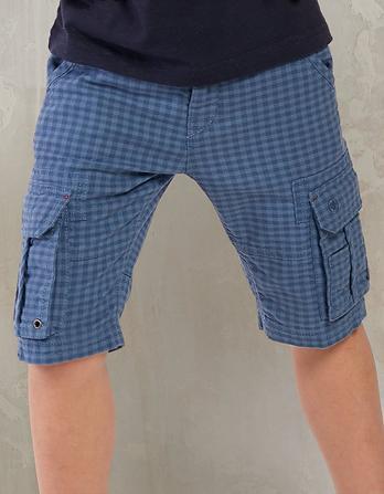 Tenby Gingham Cargo Shorts