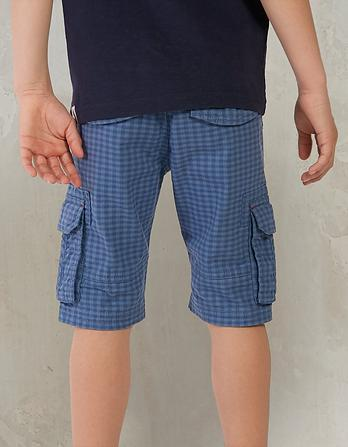 Tenby Gingham Cargo Shorts