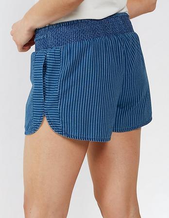 Indigo Stripe Racer Shorts