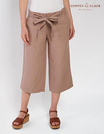 Linen Wide Leg Crops