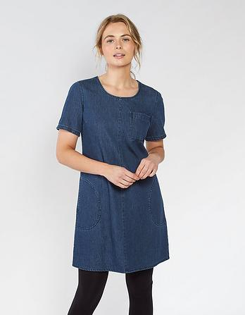 Ruth Denim Shift Dress