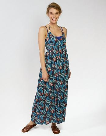 Tropical Palm Maxi Dress