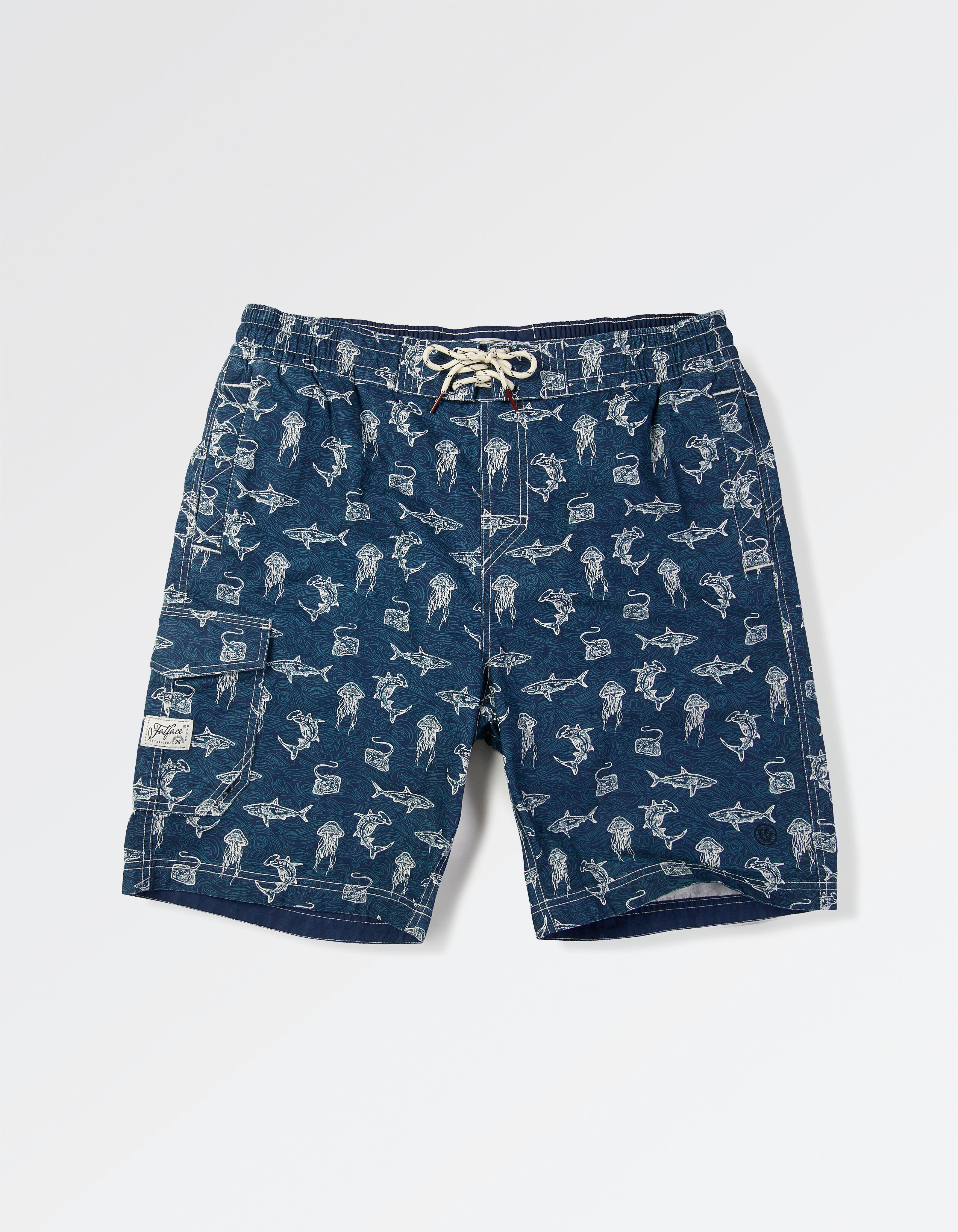 Reef Shark Print Deck Shorts