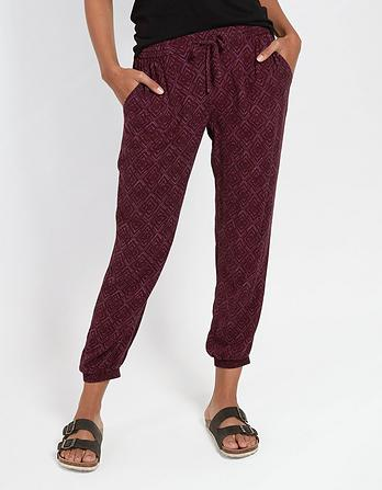 Diamond Stitch Cuff Trouser