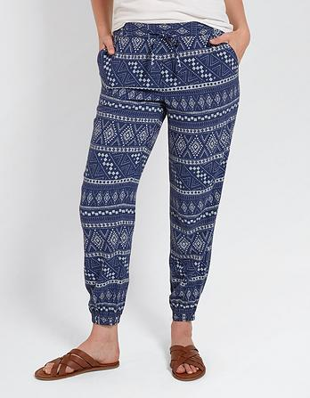 Tribal Batik Cuffed Trousers