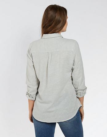 Olivia Slub Stripe Shirt