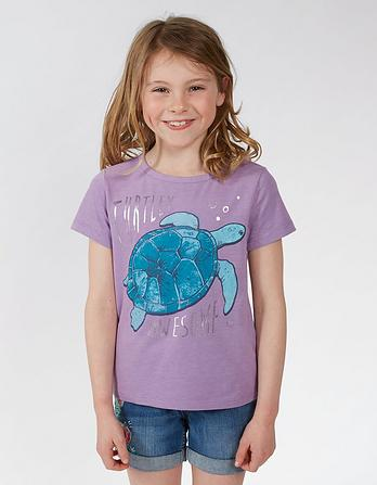 Turtle Graphic T Shirt