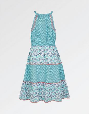 Edith Fish Print Dress