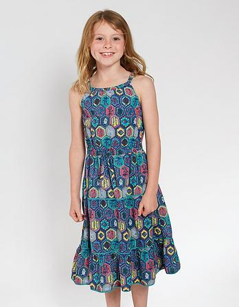 Edith Tile Print Dress