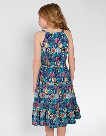 Edith Tile Print Dress