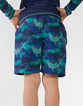 Shark Camouflage Board Shorts