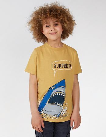Shark Surprise Graphic T Shirt