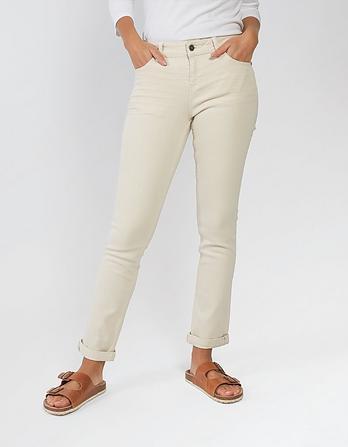 Ecru Straight Denim Jeans