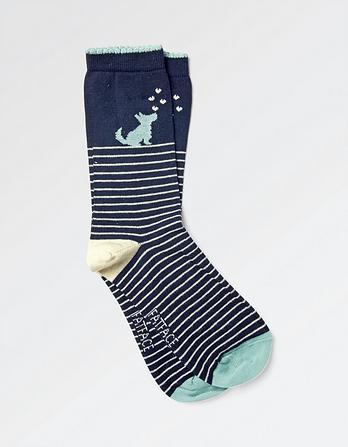 One Pack Dog Stripe Socks