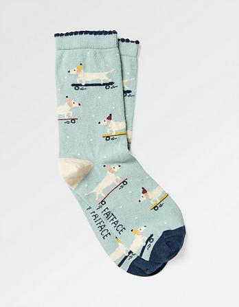One Pack Skating Dog Socks
