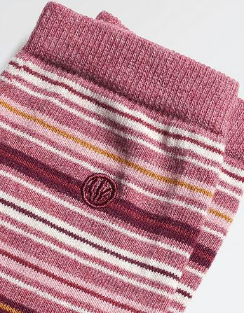 One Pack Lucy Stripe Socks