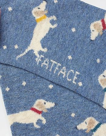 One Pack Dachshund Spot Socks