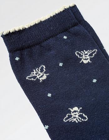 One Pack Bee Spotty Socks