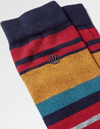 One Pack Kristian Stripe Socks