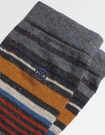 One Pack Jet Stripe Socks