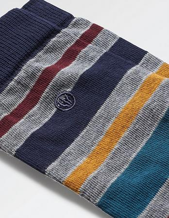 One Pack Edmund Stripe Socks
