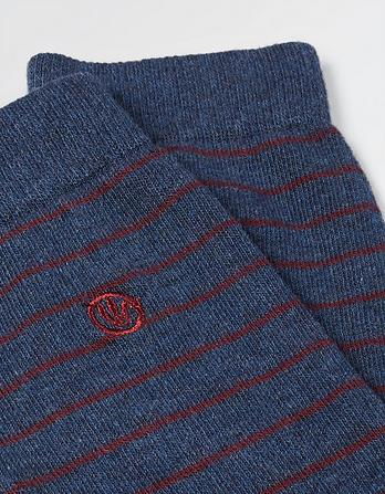 One Pack Noel Stripe Socks
